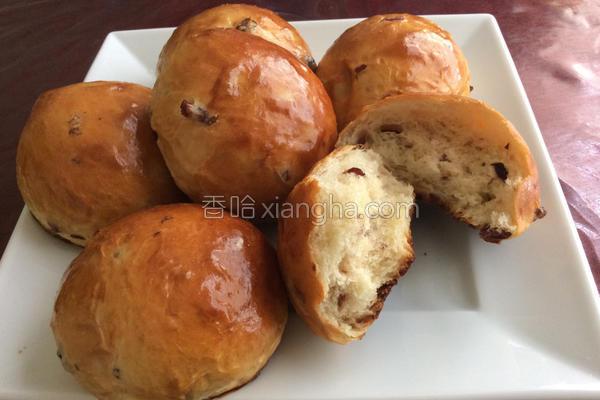 蔓越梅乳酪面包的做法