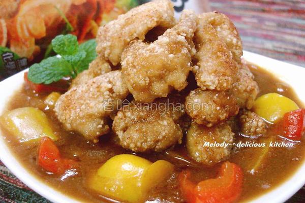 咖哩佐香鸡块的做法