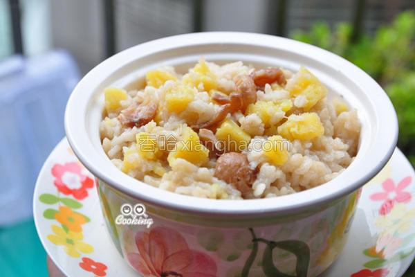 桂圆地瓜甜米粥的做法