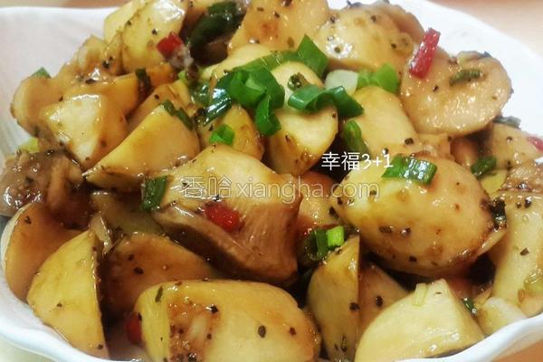 辣炒蚝油杏鲍菇的做法