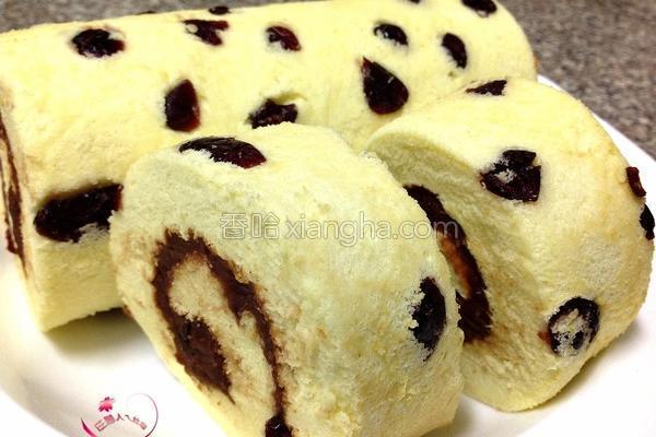 蔓越莓红豆蛋糕卷的做法
