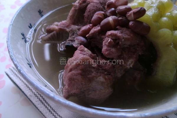 苦瓜红豆排骨汤的做法
