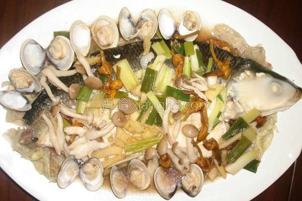 海鲜菇清蒸虱目鱼的做法