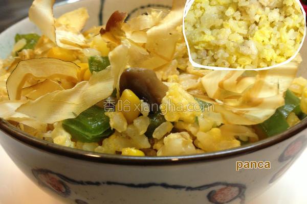 酱香菇菇蛋米饭的做法