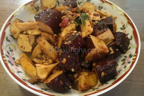 黑豆干辣炒杏鲍菇的做法