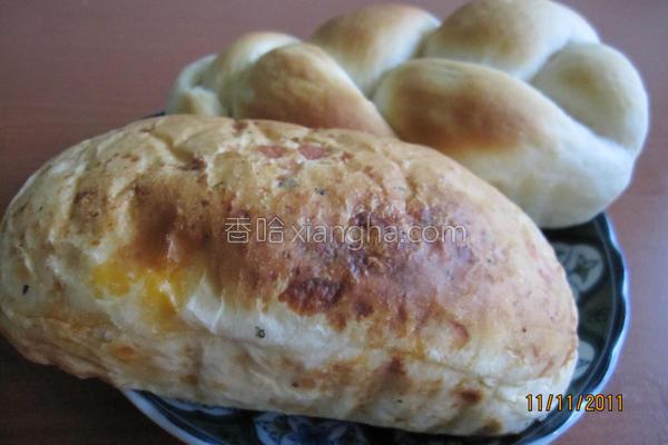 罗勒乳酪面包的做法