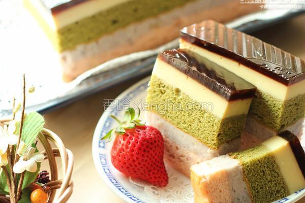 五色焦糖布丁蛋糕的做法