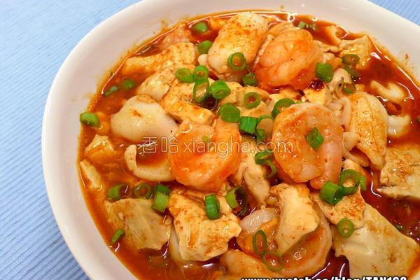韩式海鲜辣豆腐的做法