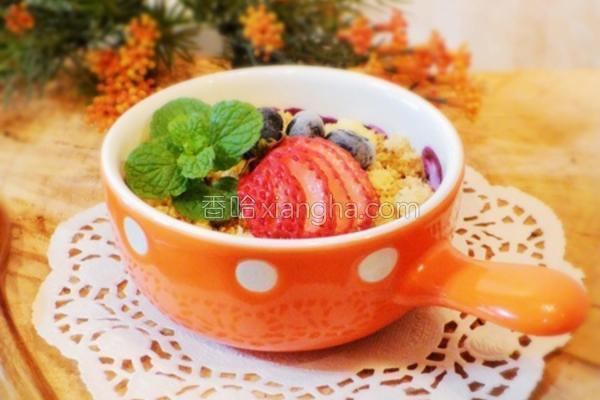 香烤莓果奶酥的做法