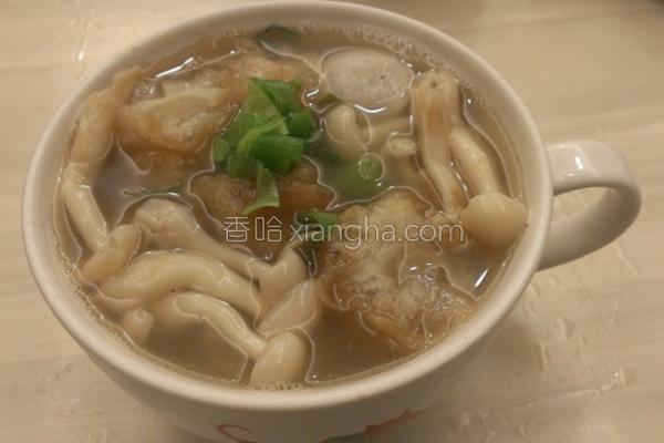 菇菇鱼丸汤的做法