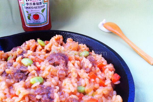 番茄牛肉炖饭的做法