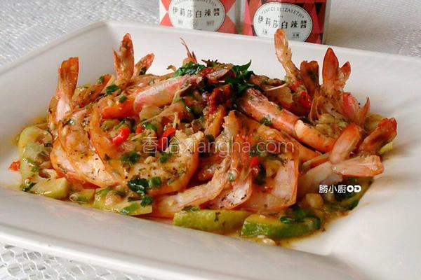 微酸辣干煎白虾的做法