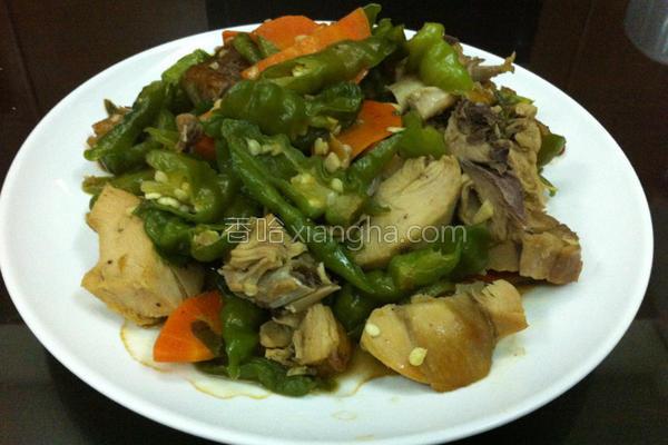 油鸡炒糯米椒的做法