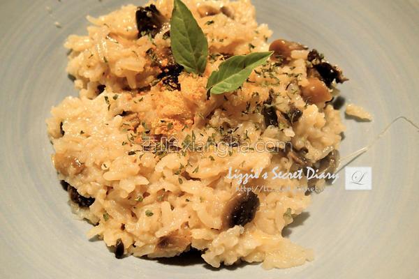 电锅蘑菇起司炖饭的做法