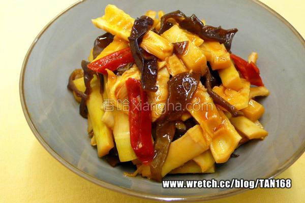 桂竹笋焖木耳丝的做法