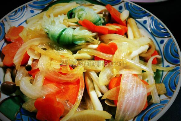 鲜蔬魔芋的做法