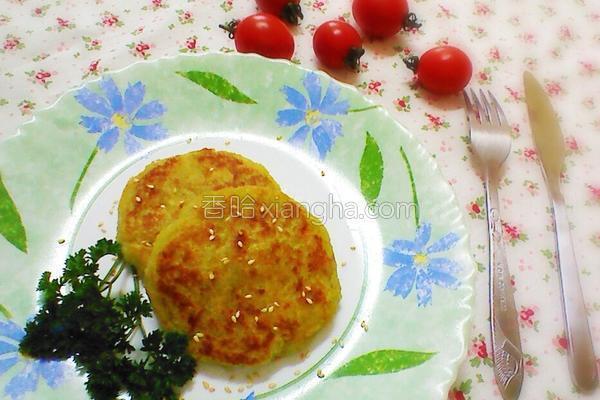 番薯米饼的做法