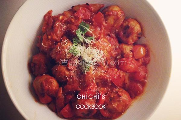意式番茄丸子的做法