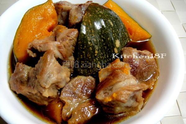 南瓜炖肉电锅的做法