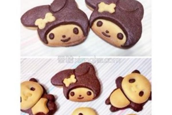 可爱卡通造型饼干的做法