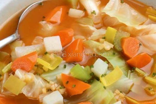 冬季卷心菜浓汤的做法