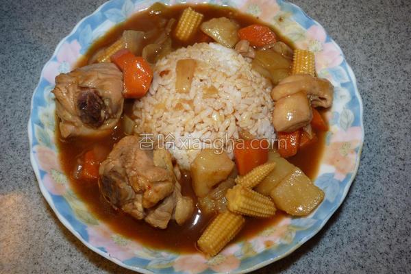 咖哩鸡烩饭的做法