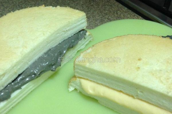 双馅豆浆蛋糕的做法
