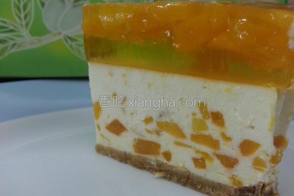 芒果芝士冻饼的做法