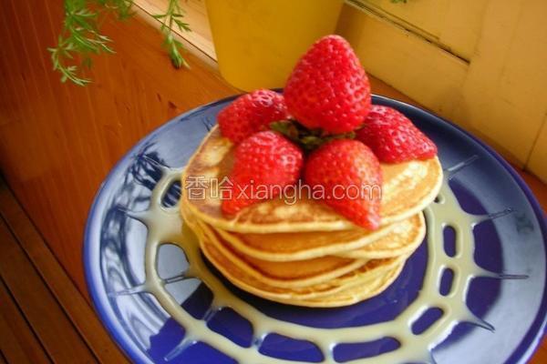 草莓炼奶薄饼