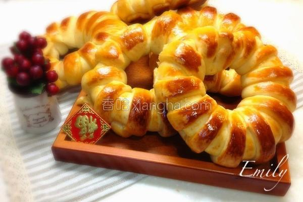 起司牛奶花型面包的做法