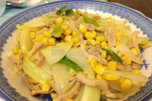 洋葱玉米蛋的做法