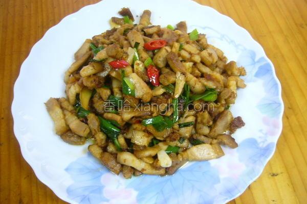 葱炒回锅肉片的做法