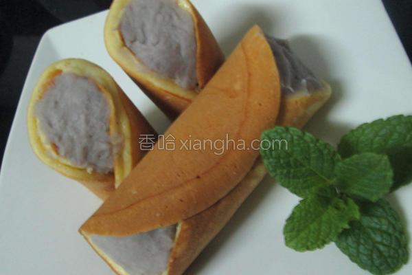 芋泥松饼卷的做法
