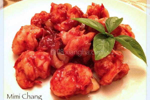 红醩明虾的做法