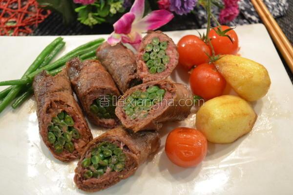青豆烧牛肉卷的做法