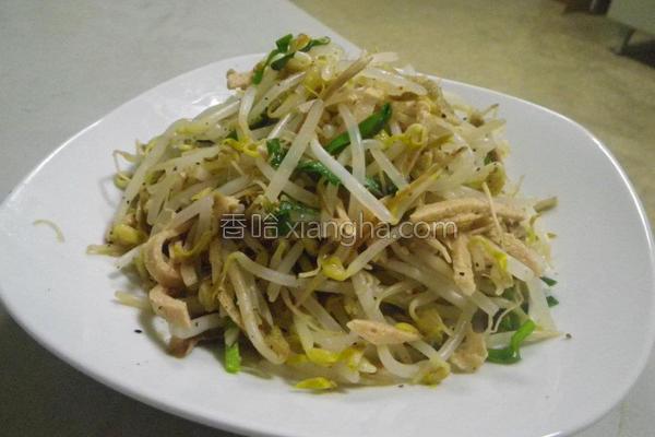 素火腿豆芽菜的做法