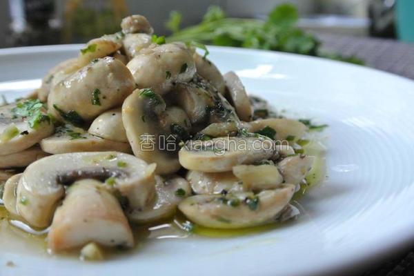 蒜味蘑菇的做法