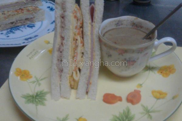 心情三明治的做法