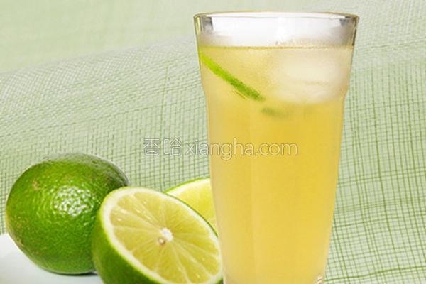 柠檬蜂蜜绿冻饮的做法