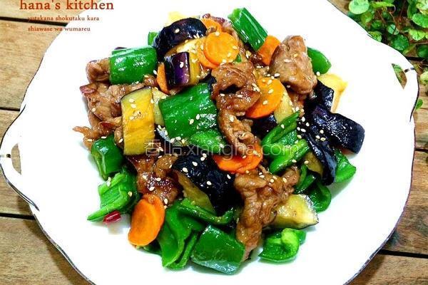 香茄青椒牛肉片的做法