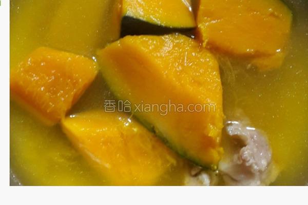 栗子南瓜排骨汤的做法