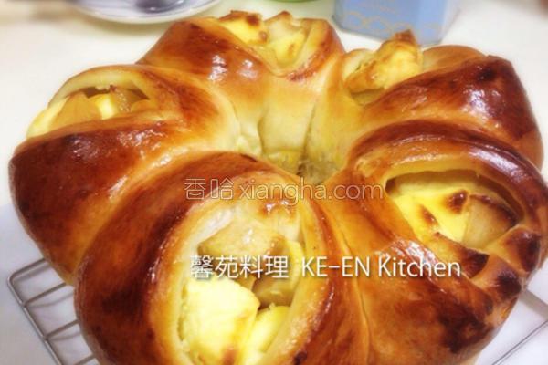 苹果乳酪面包的做法