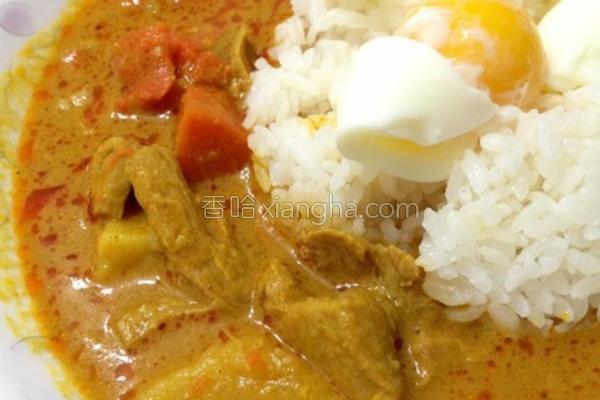 椰香咖哩鸡饭的做法