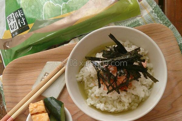 鲑鱼海苔茶泡饭的做法
