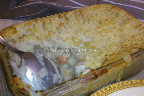 马铃薯海鲜派的做法