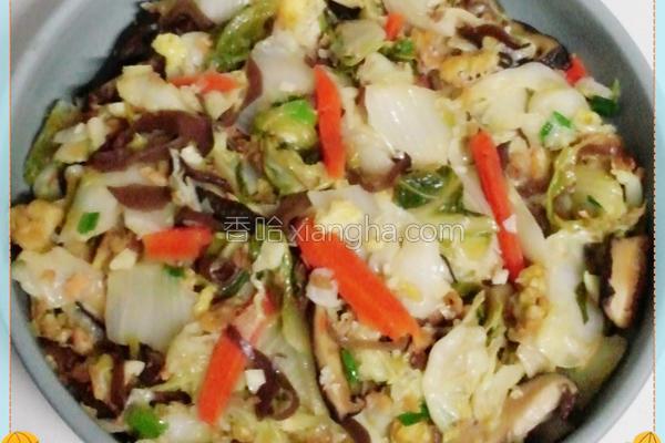 蛋酥白菜卤的做法