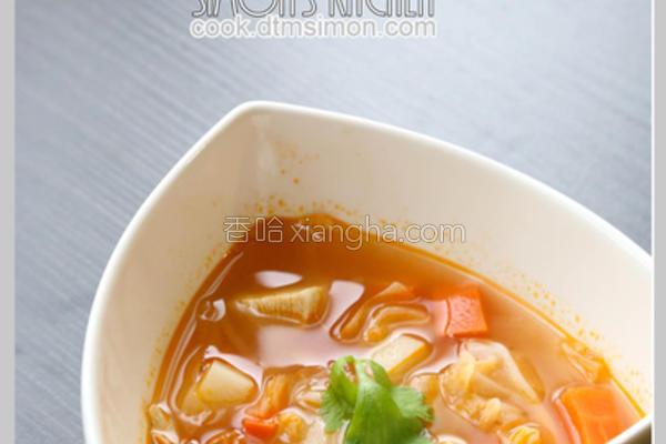 番茄蔬菜鸡肉汤的做法
