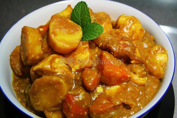 鲜菇蔬菜咖哩鸡的做法