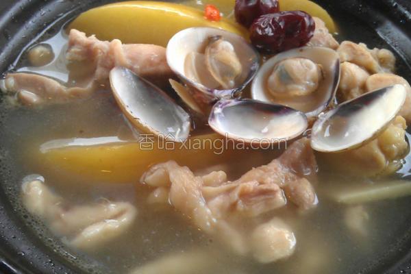 苹果蛤蛎鸡煲的做法