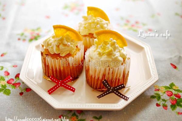 柳橙杯子蛋糕的做法